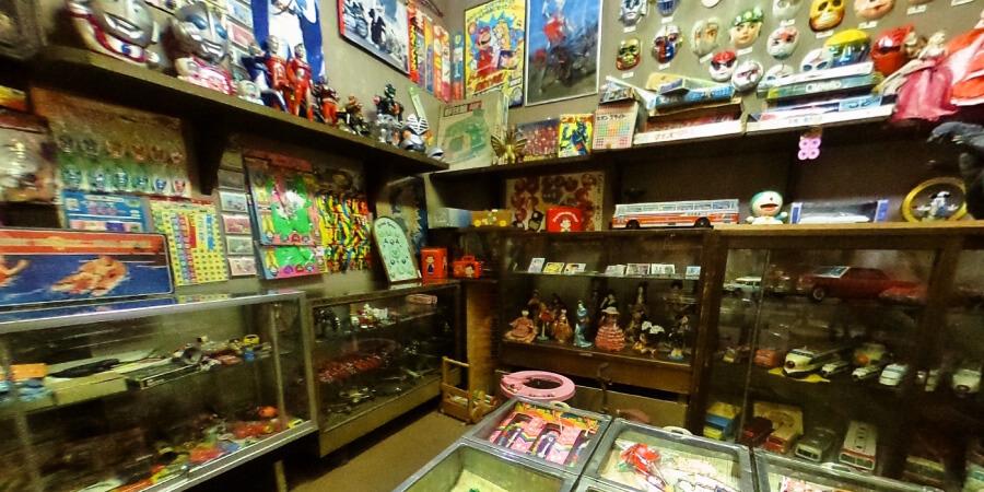 [360°パノラマ] 1階昭和通り 昭和の玩具屋